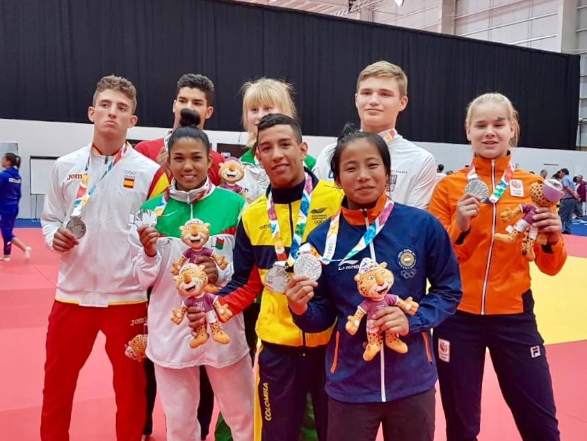 Juan Montealegre ganó plata en judo, en los Juegos de la Juventud 2018