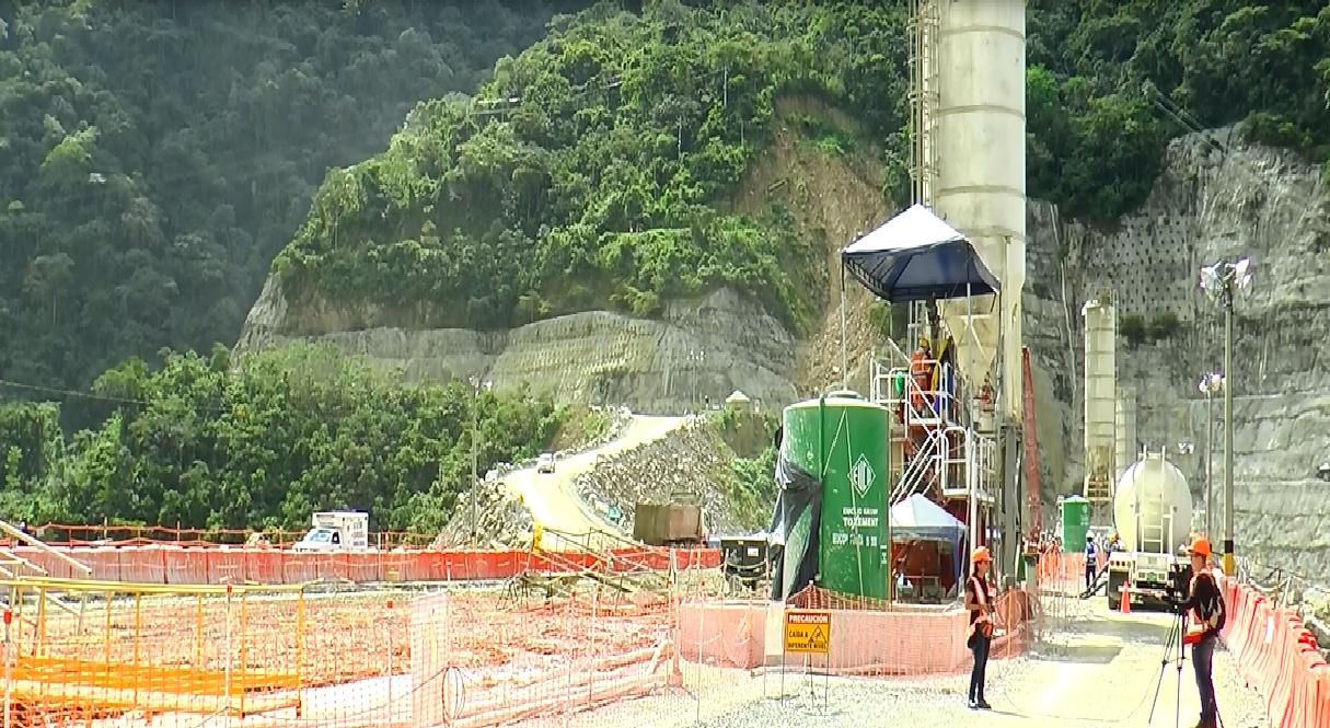 Obras del proyecto hidroeléctrico de Ituango