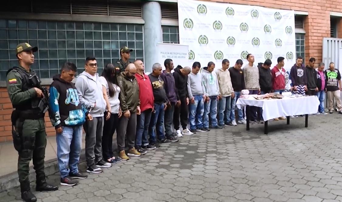 """Capturados 23 presuntos integrantes del grupo delincuencial """"Betania"""""""