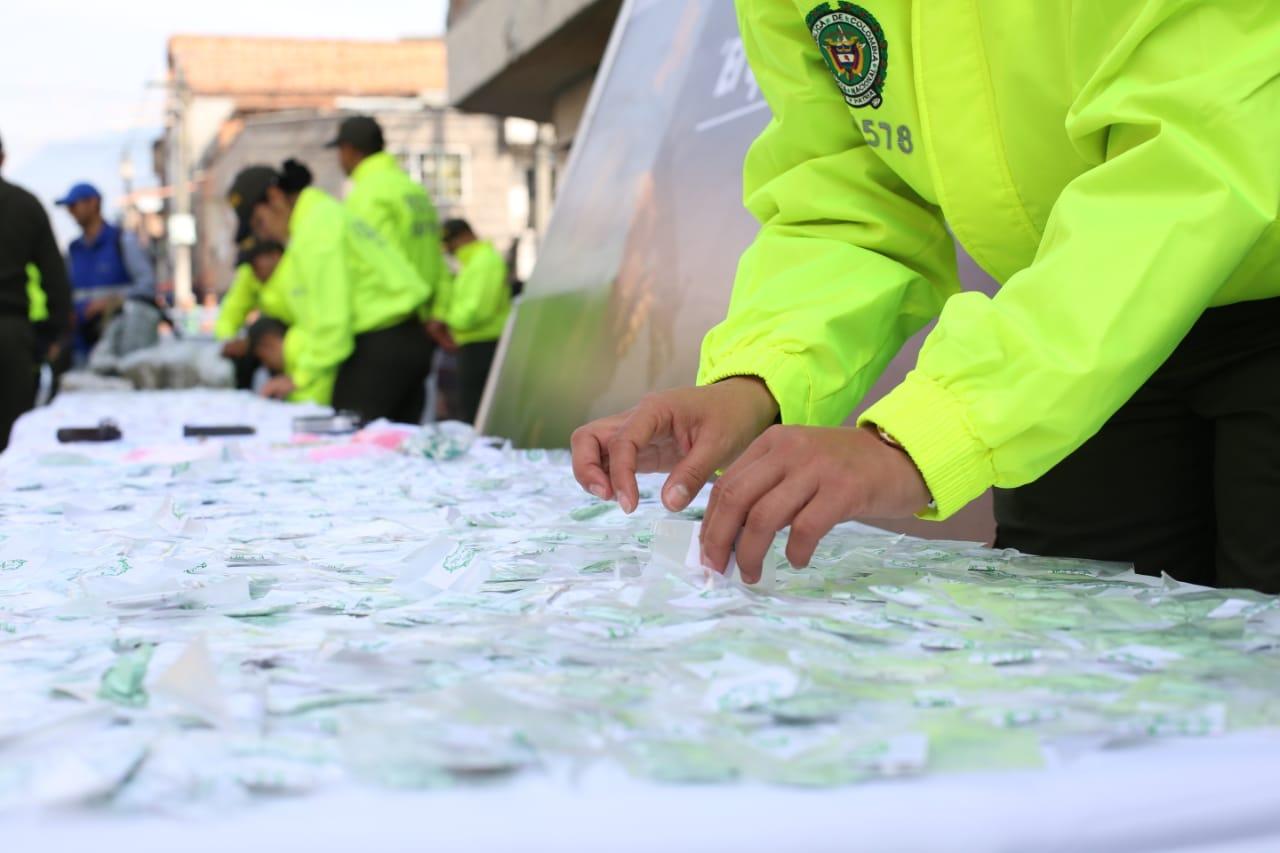 Más de 20 mil dosis de droga incautada en el barrio Antioquia