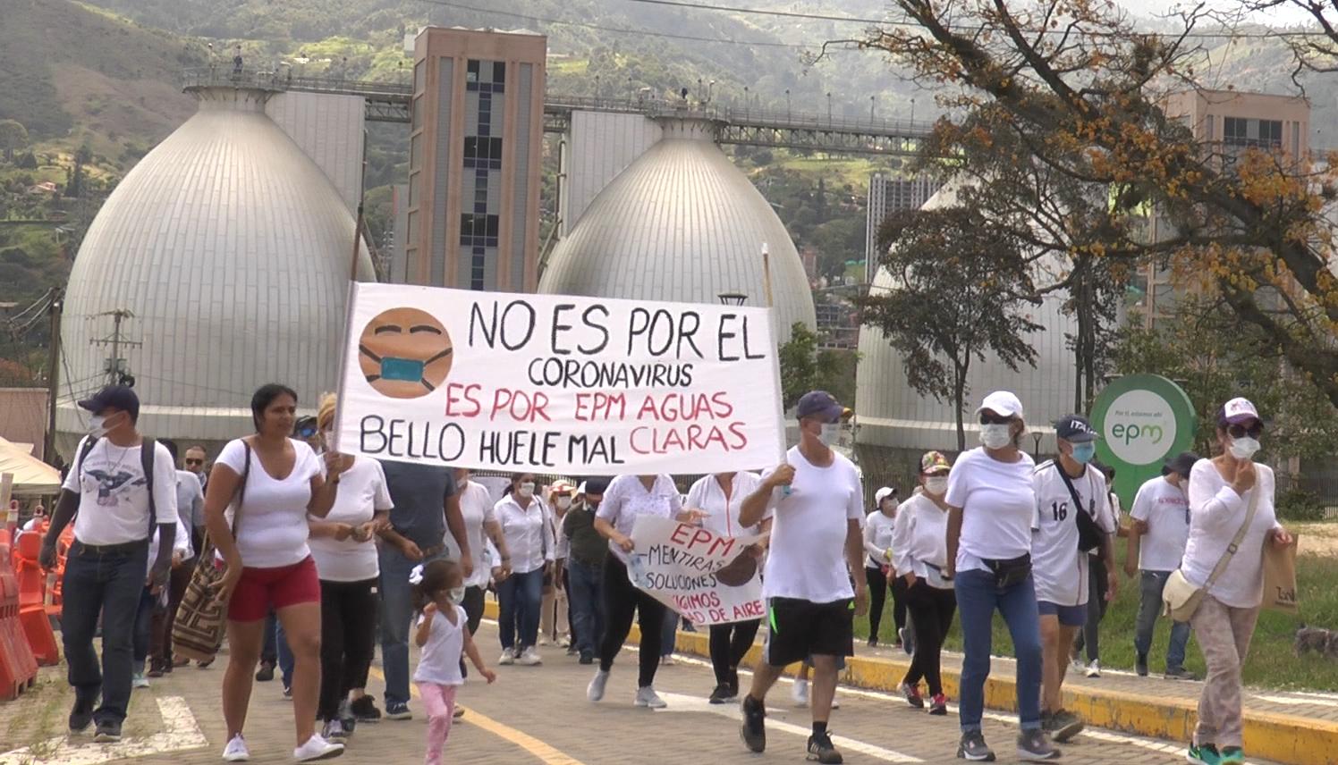 MANIFESTACIÓN EN LA PTAR DE BELLO